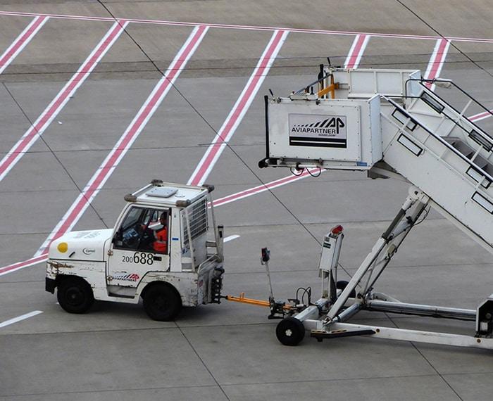 Aviapartner Stairs on the Tarmac