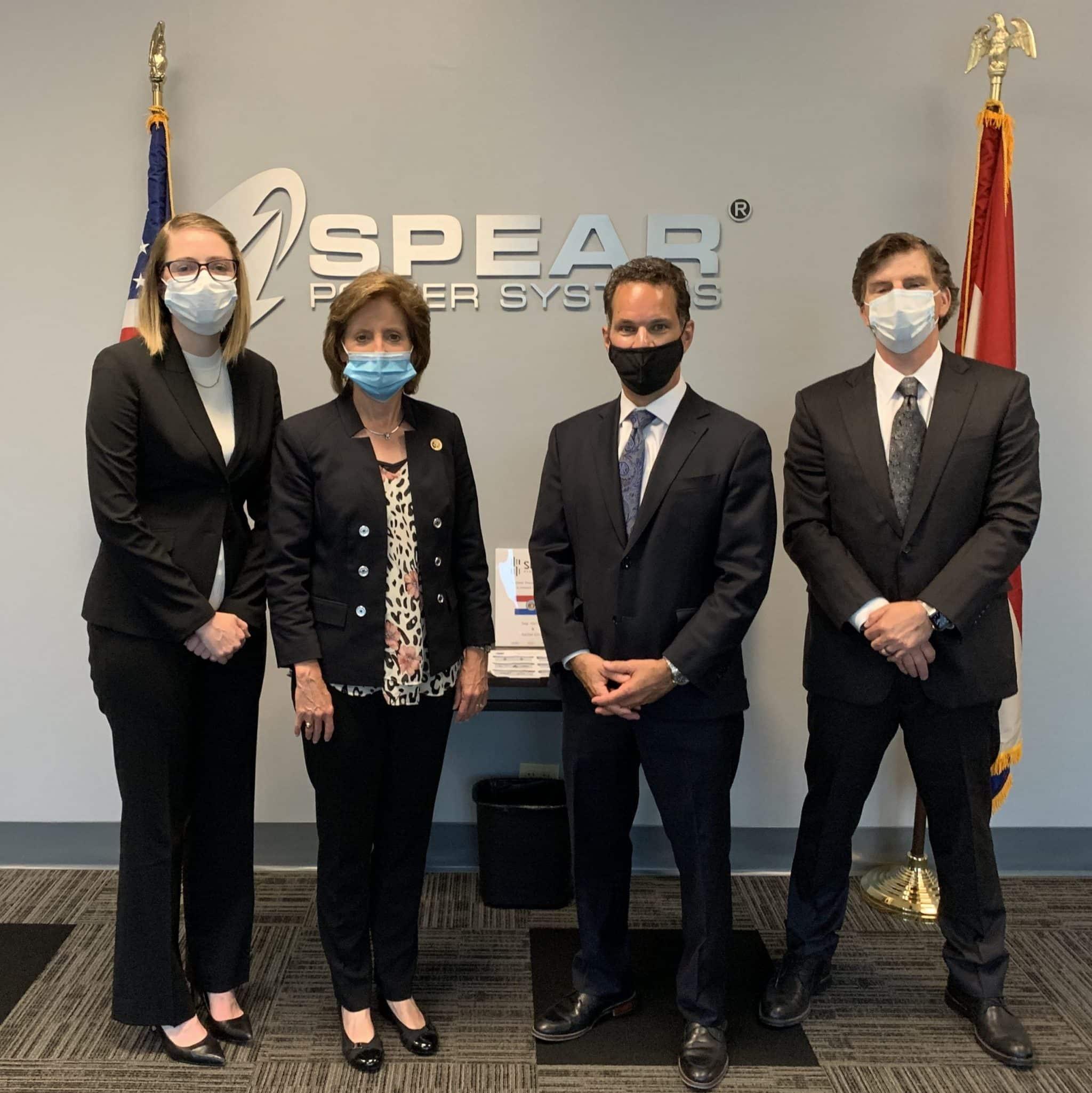 hartzler visit with masks